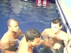 [GVC 481] Yummy trio sucking in the pool