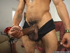 Sexy Guy Plays With His Huge Stick