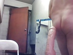 ANAL Monster dildo then long cock in juicy tight Joey D
