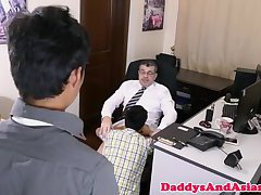 Mature dilf barebacking pinoys in office trio