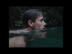 2 men skinny dipping