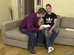 Gay play with hetero dude