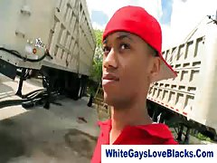 Gays blowjob in the street