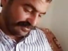 Horny turkish man shows his cock