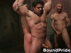 Brenn and moreover also Chad in extreme gay bondage and moreover also torture