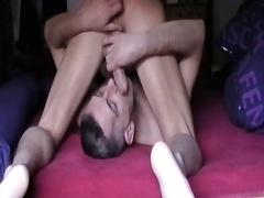 Jan blow Henndrik 69 in Bed Cum eat, bum, huge cock 15.05.12