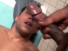 Gay slut welcomes his buddy's massive cock in his butt