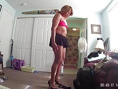 Little mini skirt and bikini top