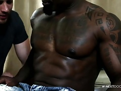 NextDoorEbony Big Cock Muscle Sucked by Brendan