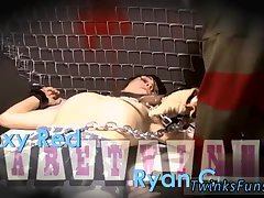 Roxy Red wakes up roped to a table