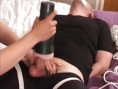 Daddy Made to Cum Multiple Times with Fleshlite