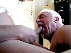 Two older mature men