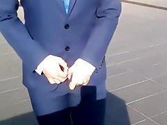 Asian boy - suit boner