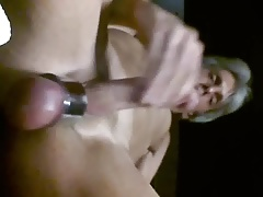Jerking off my hard fat throbbing cock