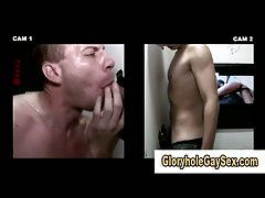 Straight guy tricked at gay gloryhole