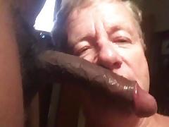 Fag Sucks BBC,Black Balls, Gets Cum Facial