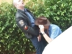 Excited Cop Bangs Hot Cowboy