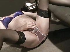 Satin panty and stockings