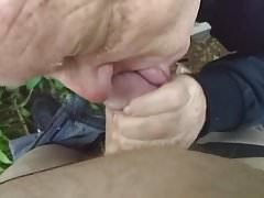 Dave sucking Rob's cock in the woods