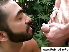Older gay man loves sex in public