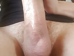 Big cock lick my own head and cumming