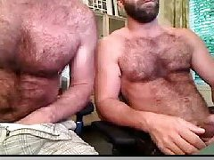 Hairy Studs Mutual Wanking On Cam