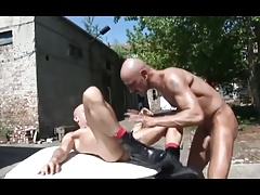 Bare Flip Fuck Outdoors