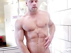 Maskurbate Straight Brad Sexy Shower Solo