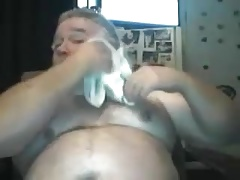 Chubby daddy play and cum
