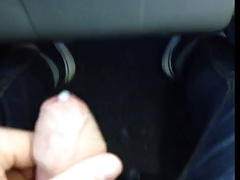 Jerking on the bus with a guy close to him