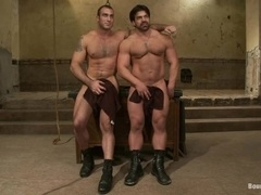 Spencer Reed and Vince Ferelli torture each other by turns in BDSM clip