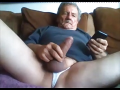 Older man playing