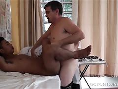 Interracial Kinky Bareback Threesome