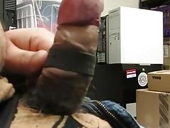 edging cum at the office