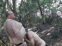 chub sucked and rimmed in forest