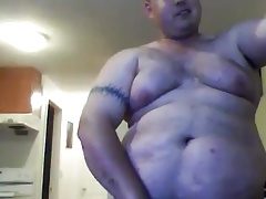 Cute big chub jerking off