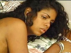 Black Brazilian Transsexual Kelly  Interracial Pleasure