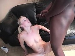 Enticing babe Sharon takes every inch of black meat in her wet pussy