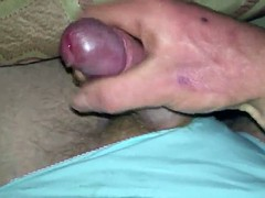 wanking in panties and cum in moms pad fanny