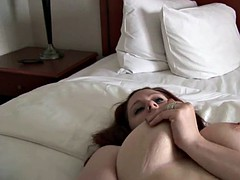 Canadian porn amateur fingers pussy with big natural tits