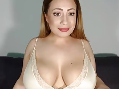 Perfect latina with beige lingerie