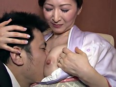 デカパイ, 中出し, 日本人, 熟年, 淫乱熟女