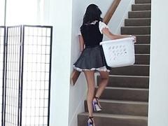Kleid, Gesichtssitzen, Hardcore, Hausmädchen, Zierlich, Dürr, Jungendliche (18+), Uniform