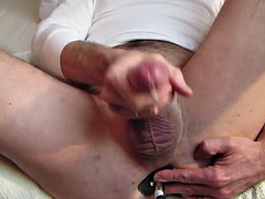 wank with dildo and lots of cum