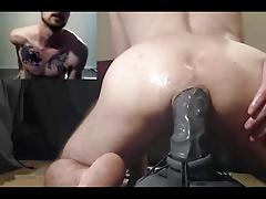 Leie, Arsch, Dildo, Schwul, Masturbation, Muskel, Netzkamera