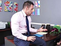 My new assistant Anna Bell Peaks is ready to learn on my dick