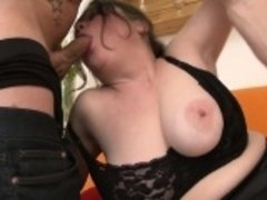 Rookie old ma banged by young boy Reva from 1fuckdatecom