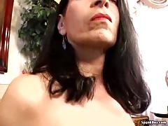 Hairy mature masturbates her pussy