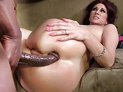 Анальный секс, Большой член, Блондинки, Хд, Межрасовый секс, Милф