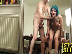 Pierced anal young slut gets her tight ringpiece ruined